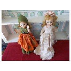 Cinderella ! Cinderella ! 2 Vintage Madame Alexander Dolls
