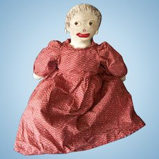 18 Inch Old Cloth Unique Topsy Turvy Doll