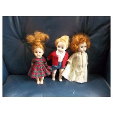 3 Vintage Ginnys and Alexander Kins