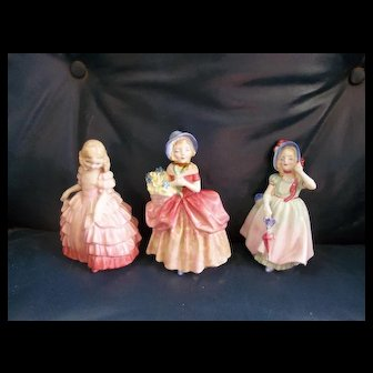 3 Stunning Vintage Royal Doulton Figurines