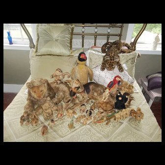 A Large Collection of Vintage Steiff Animals from Germany