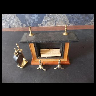 A Real Sweet Fireplace with Set