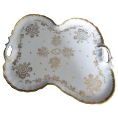 French Limoges Hand Painted Signed Tray