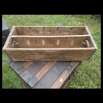 Vintage Capital District Seltzer Co. Bottle Crate