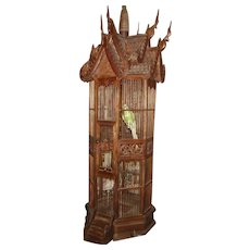 Wooden Carved Ornate Birdhouse from Thailand