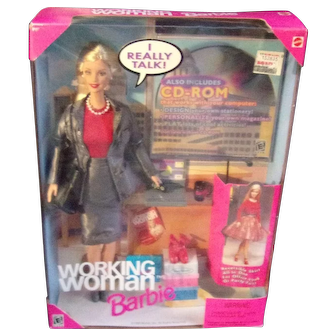 "Working Woman Barbie "" I Really Talk """