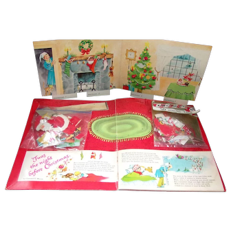 Vintage ( The Night Before Christmas) Set up Press- Out by Whitman and Tags 1960's