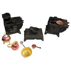 Dollhouse Cast Iron ( Small) Stoves and Extras