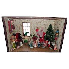 Vintage Christmas Room Box Diorama