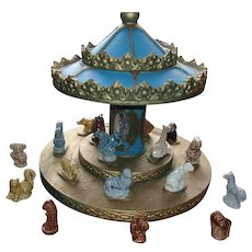Merry Go Round Display with Miniature Wade Whimsies