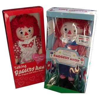 Raggedy Ann and Andy In Boxes