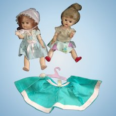 2 Vintage Virga Ginny Dolls with Tagged Vogue Outfit