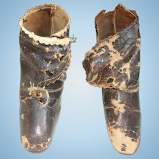 Antique French Doll Shoes that Need TLC