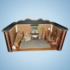 Beautiful Antique Doll Livingroom Box
