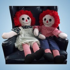 Large 36 Inch Raggedy Ann and Andy