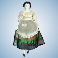 Beautiful German 6 Inch China Doll House Doll