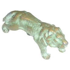 Such a Beautiful Vintage Miniature Heavy Metal Lion with Great Patina