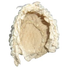 A Beautiful Antique Wool and Lace Hat