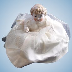Stunning German Bisque Molded Hair Pin Cushion