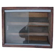 Vintage Rustic Glass and Wood Case