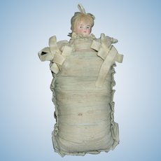 Rare Antique German Pillow Doll