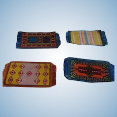 4 Small Dollhouse Rugs
