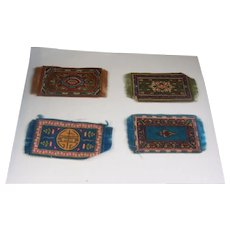 4 Antique Dollhouse Rugs