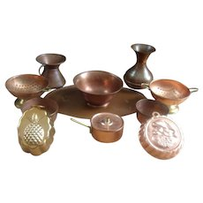 Great Group of Copper and Molds for Kitchen or Shop