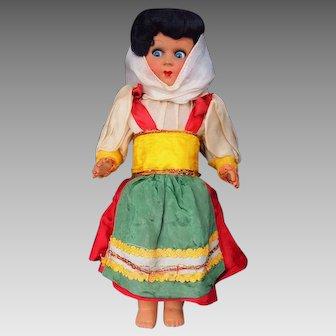 Vintage Athena Piacenza Italy Hard Body Souvenir Italy Doll