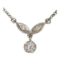 14kt Old European cut Diamond Necklace