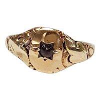 14kt Garnet Star Ring, Circa 1880