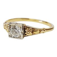 Victorian Two-tone Diamond Ring