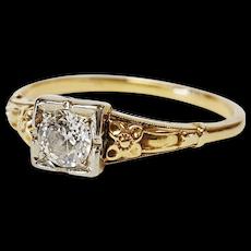 Victorian Two-tone Diamond Ring