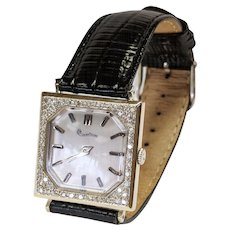 Lucien Piccard 14kt Diamond Watch, Circa 1955