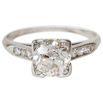Art Deco PLAT Diamond Ring