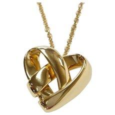 Van Cleef & Arpels 18kt Knotted Heart Pendant