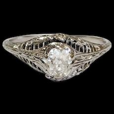 18kt Oval Old Mine cut Diamond Ring