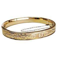 Victorian 10kt Gold-filled Bangle Bracelet