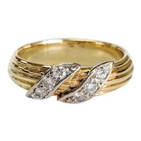 14kt Two-tone Diamond Ring