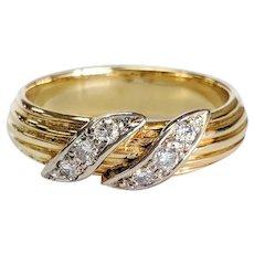 14kt Two-tone Diamond Ring
