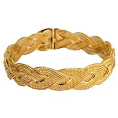 22kt Braided Soft Bangle Bracelet