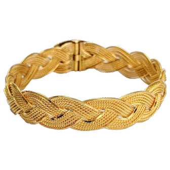 22kt Braided Soft Bangle Bracelet