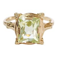 14kt Synthetic Peridot Ring