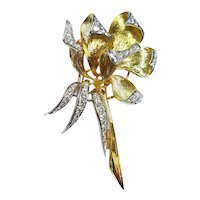 Olga Tritt 18kt Diamond Brooch