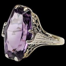 Victorian 14kt Amethyst Ring