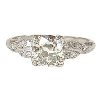 Platinum Old European cut Diamond Ring
