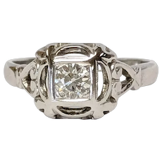 18kt Transition cut Diamond Ring