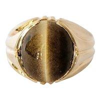 18kt Tigers Eye Ring