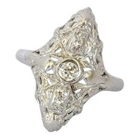 Art Deco 18kt Diamond Ring