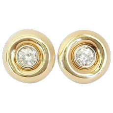 14kt Yellow Gold Diamond Studs